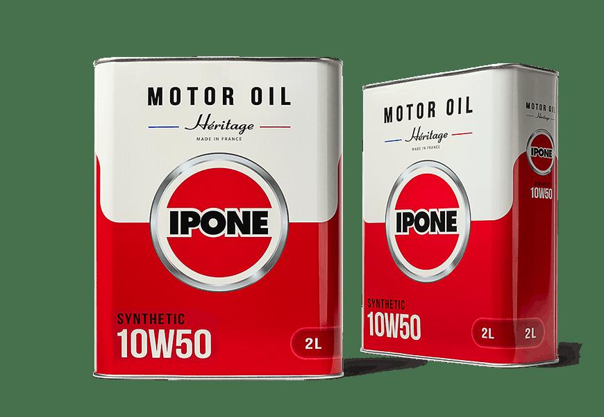 Bidons 2L HÉRITAGE 10W50 huile moteur 4 Temps 100% synthétique