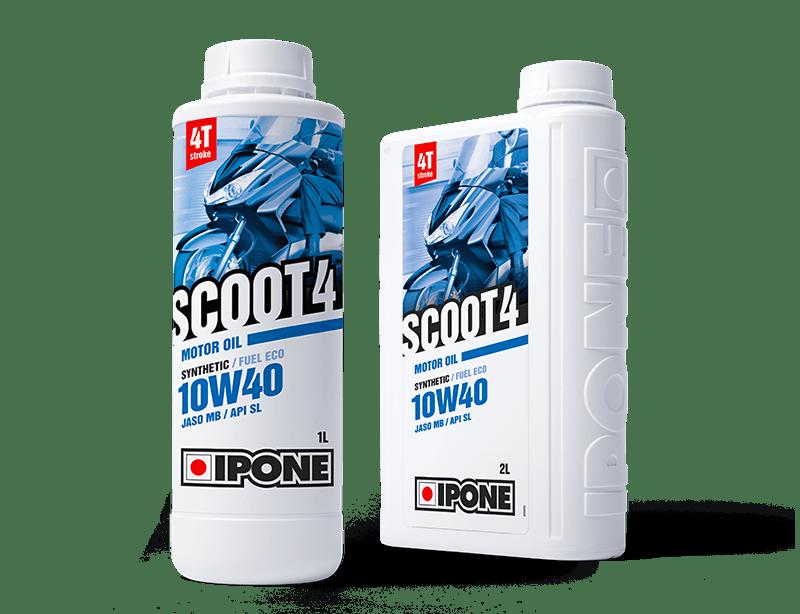 Bidons 1L et 2L huile moteur scooter 4 temps SCOOT 4 IPONE