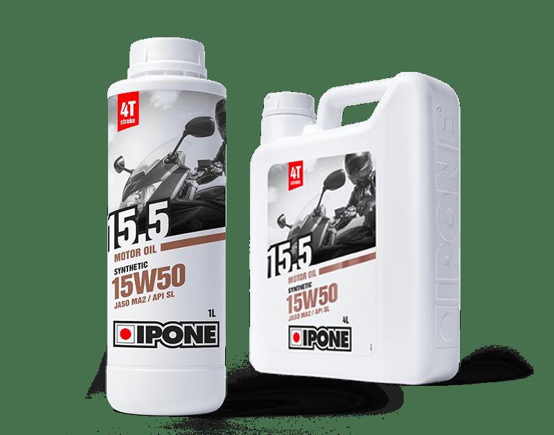 Bidons 1L et 4L huile moteur 4 temps 15.5 IPONE