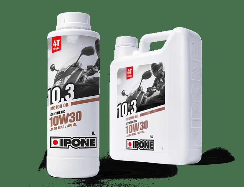 Bidons 1L et 4L huile moteur 4 temps 10.3 IPONE
