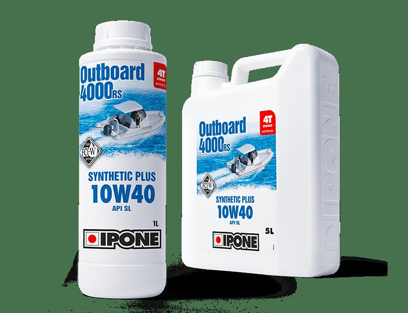 Bidons 1L et 5L huile bateau 4 temps OUTBOARD 4000 RS IPONE