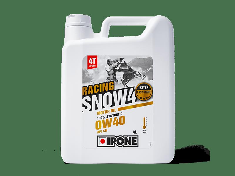Bidon 4L huile moteur motoneige 4 temps SNOW 4 RACING IPONE