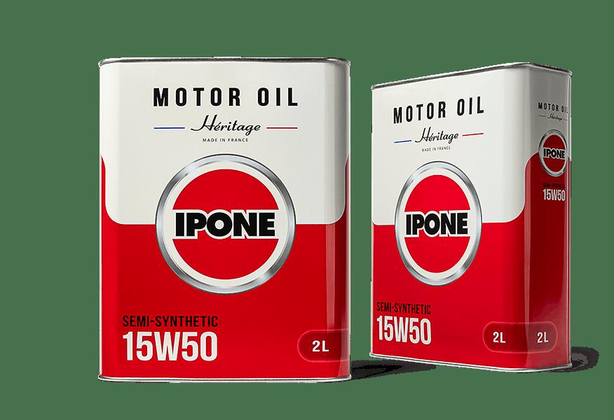 Bidons 2L HÉRITAGE 15W50 huile moteur 4 Temps semi-synthétique