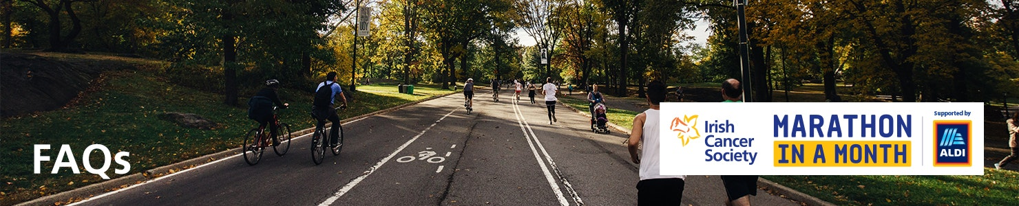 FAQs header banner - a group of cyclists