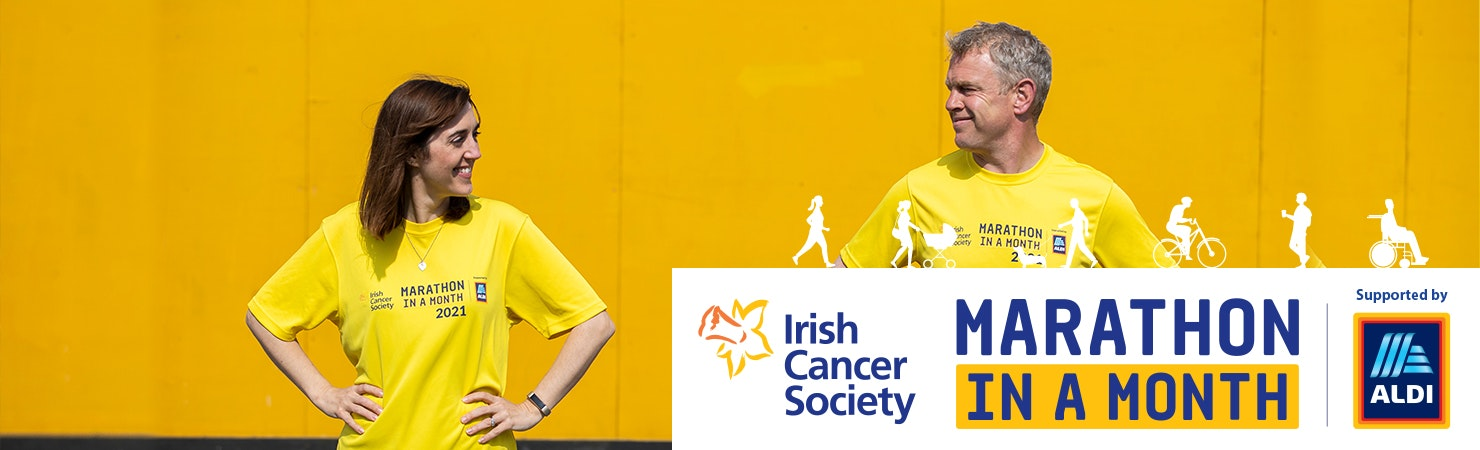 Irish Cancer Society Marathon in a Month header banner