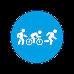 Cycle, run, walk icon