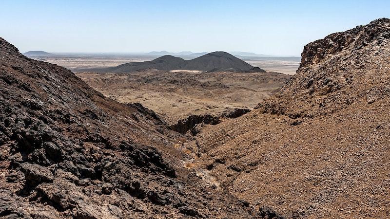 Lava tracts in Makkan desert