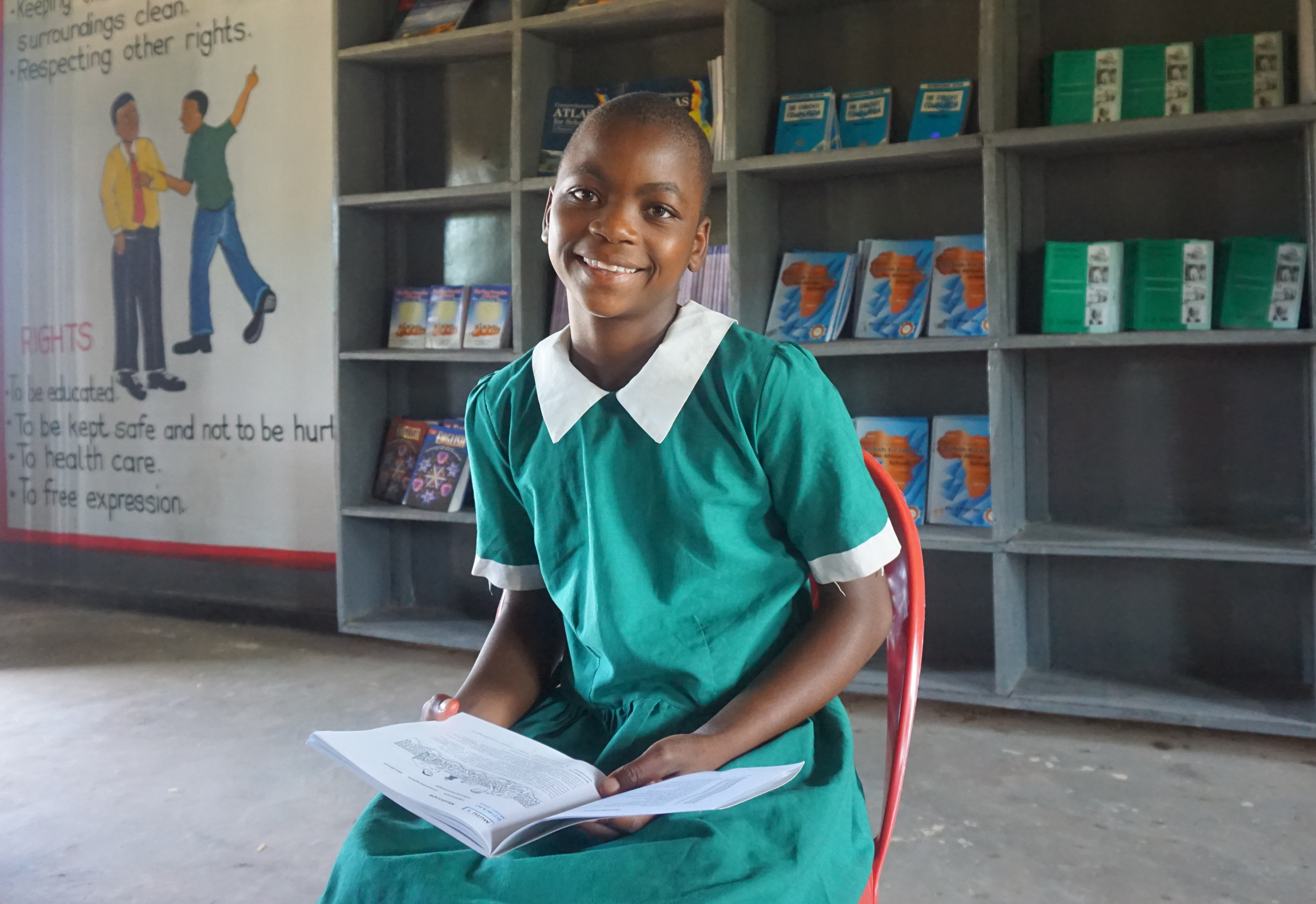Smiling child from Malawi