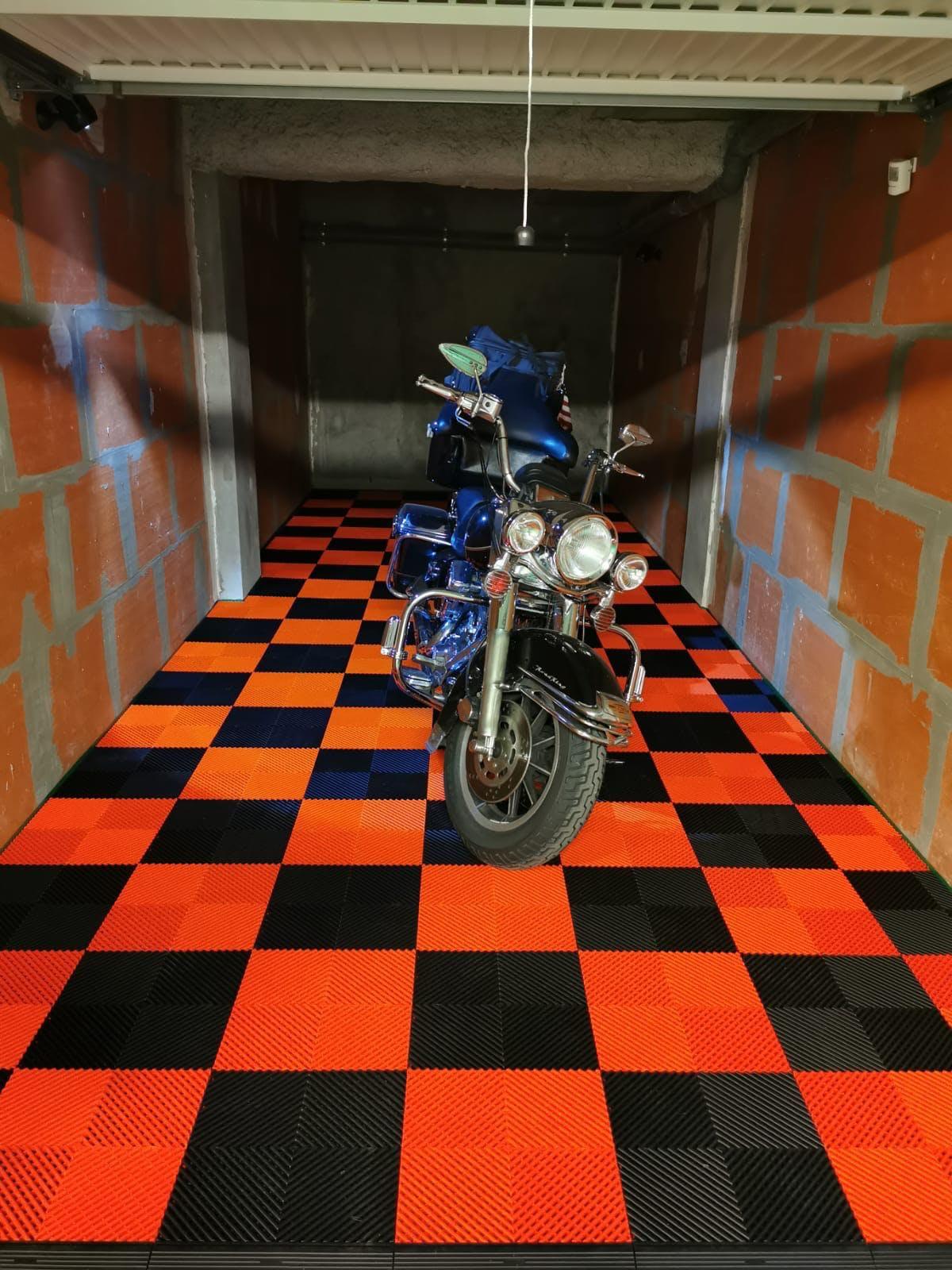 Dalles de sol garage moto Izifloor