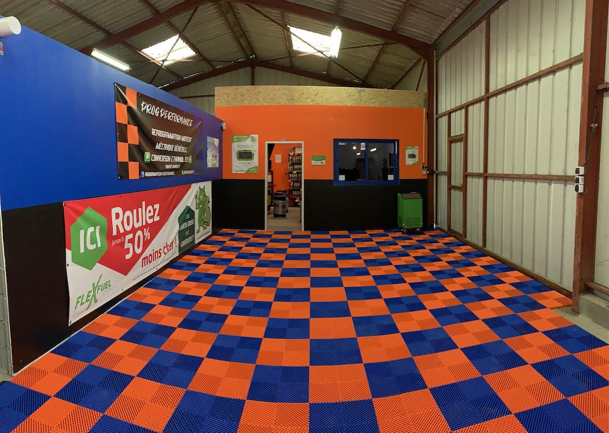 Revetement De Sol Pour Garage une belle réalisation de revêtement de sol pour garage