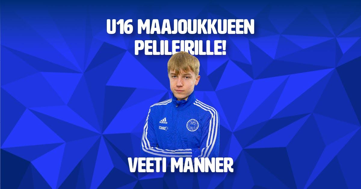 Veeti Manner valittu U16-poikien maajoukkueen pelileirille
