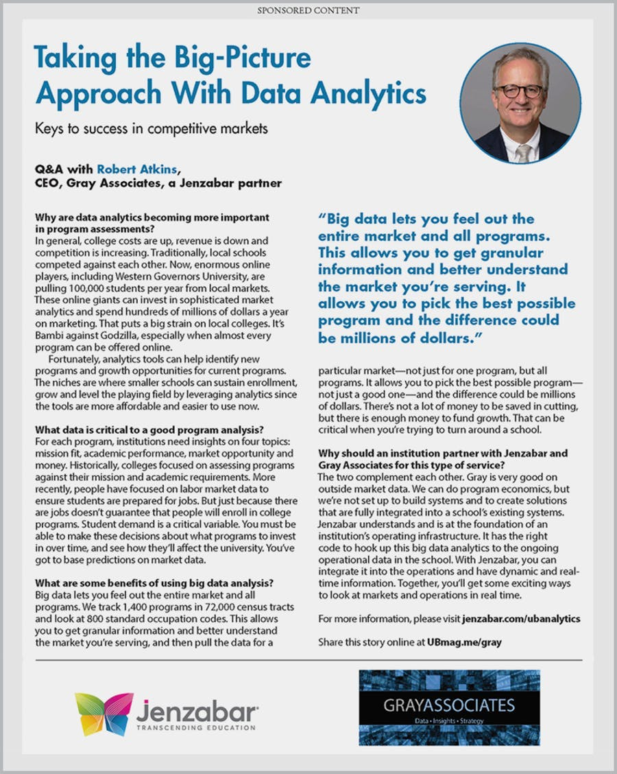 Taking the Big-Picture Approach with Data Analytics