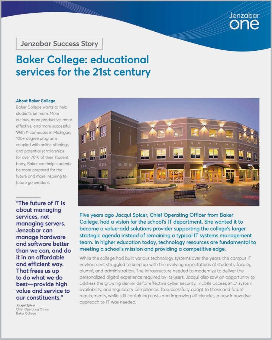 Baker College: Educational services for the 21st century