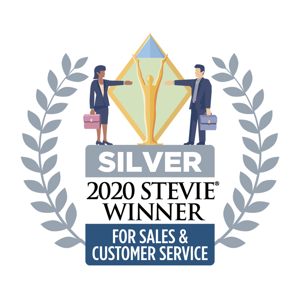 2020 Silver StevieAward for the Best Customer Service Department of the Year