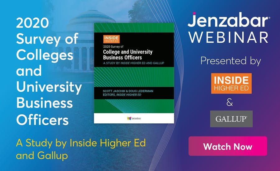 Webinar: 2020 Survey of College and University Business Officers
