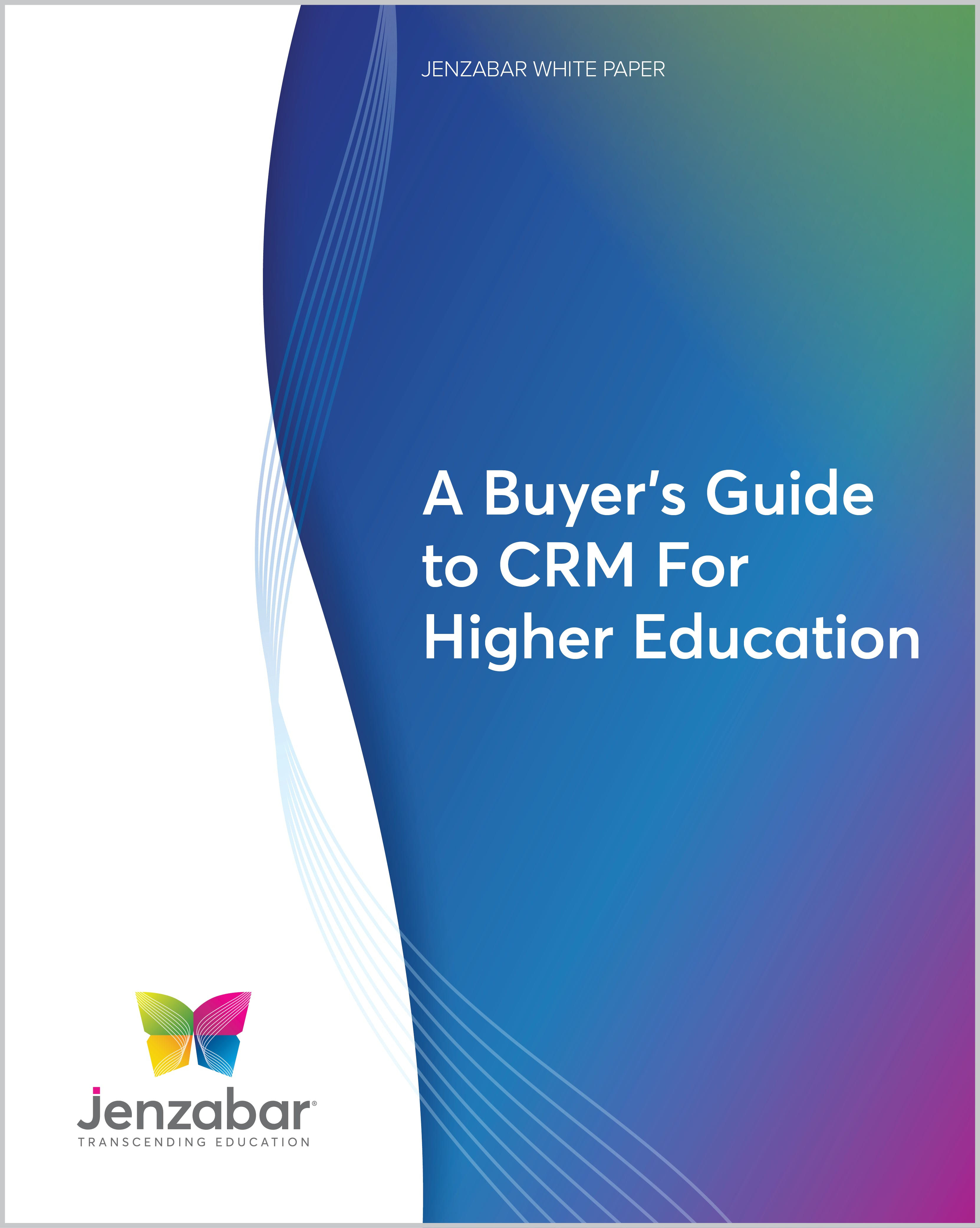 A Buyer's Guide to CRM For Higher Education