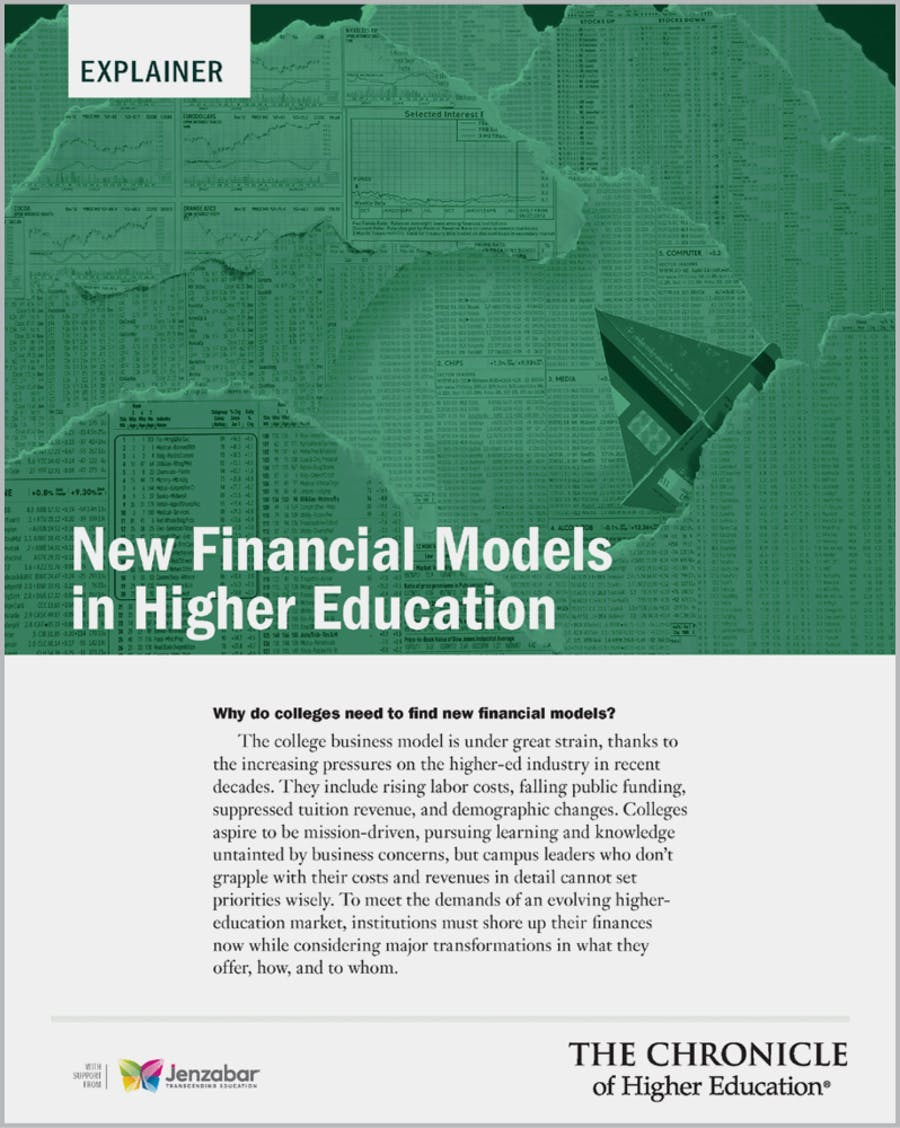 New Financial Models in Higher Education