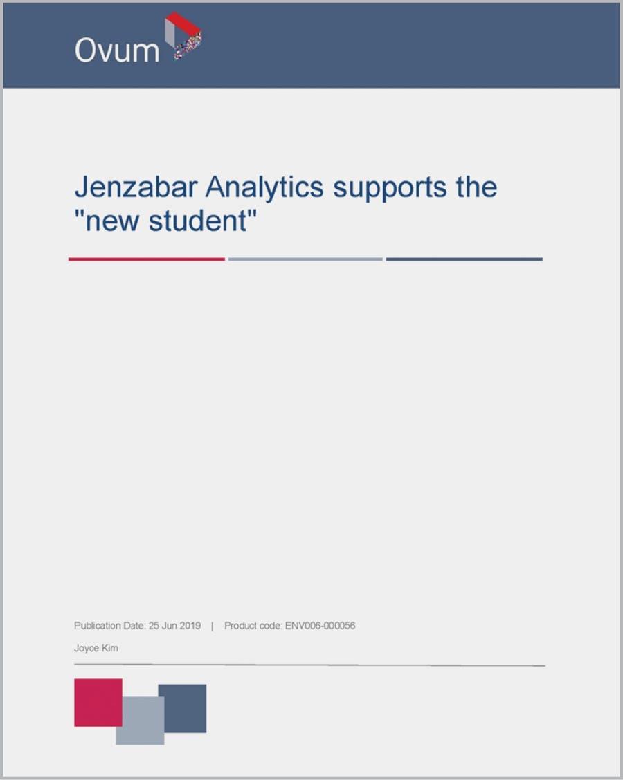 """Jenzabar Analytics supports the """"new student"""""""