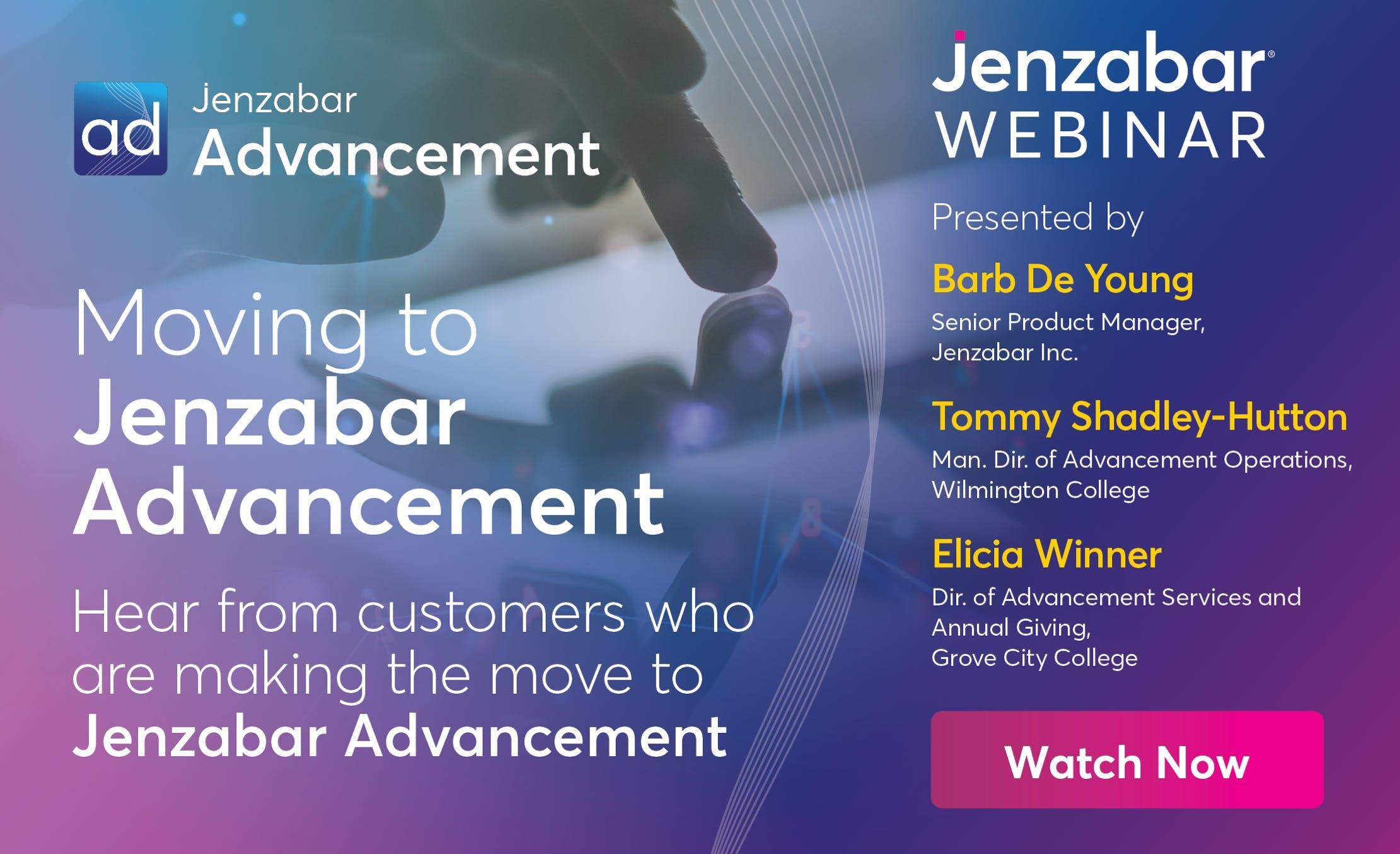 Moving to Jenzabar Advancement