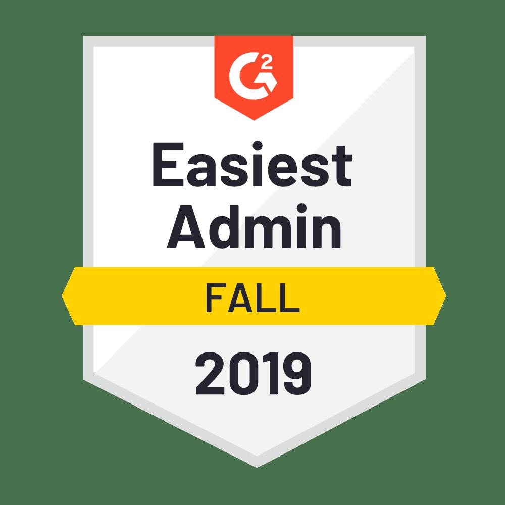 Easiest Admin Fall 2019