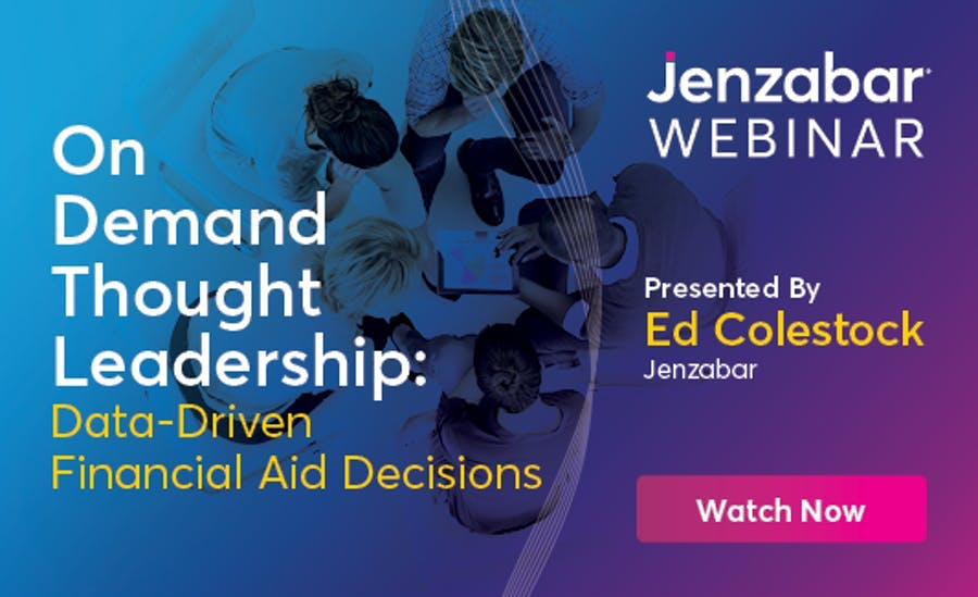On Demand Thought Leadership Webinar: Data Driven Financial Aid Decisions