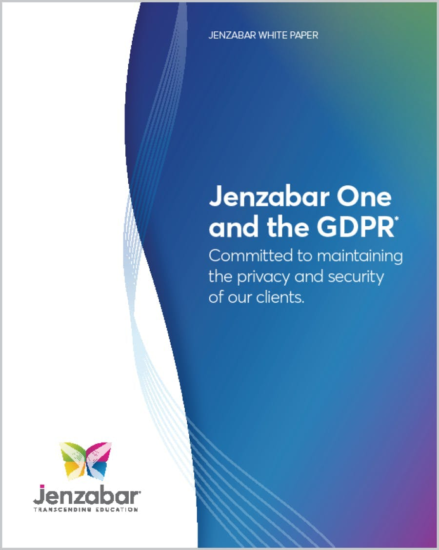 Jenzabar One and the GDPR