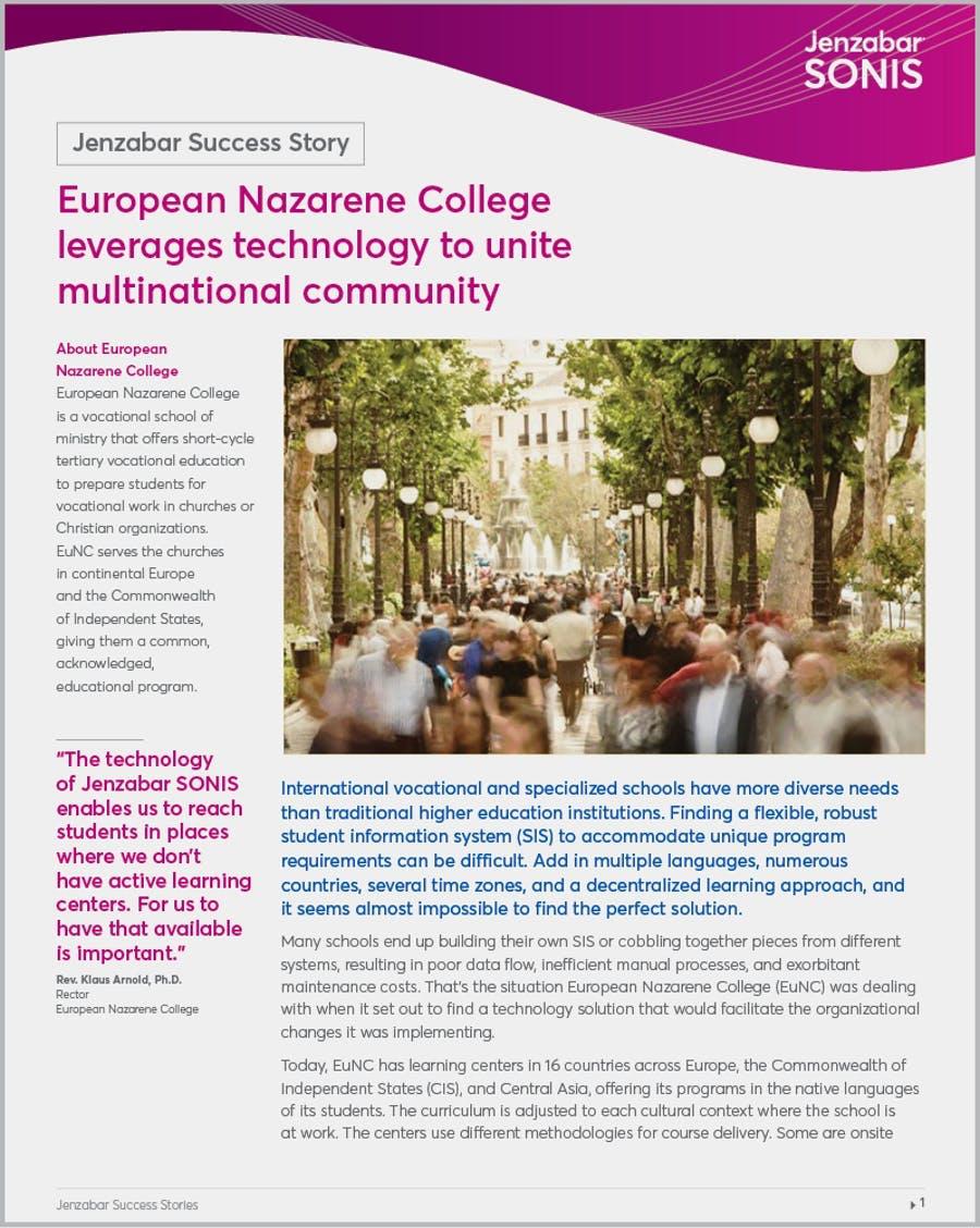 Case Study: European Nazarene College Leverages Technology to Unite Multinational Community