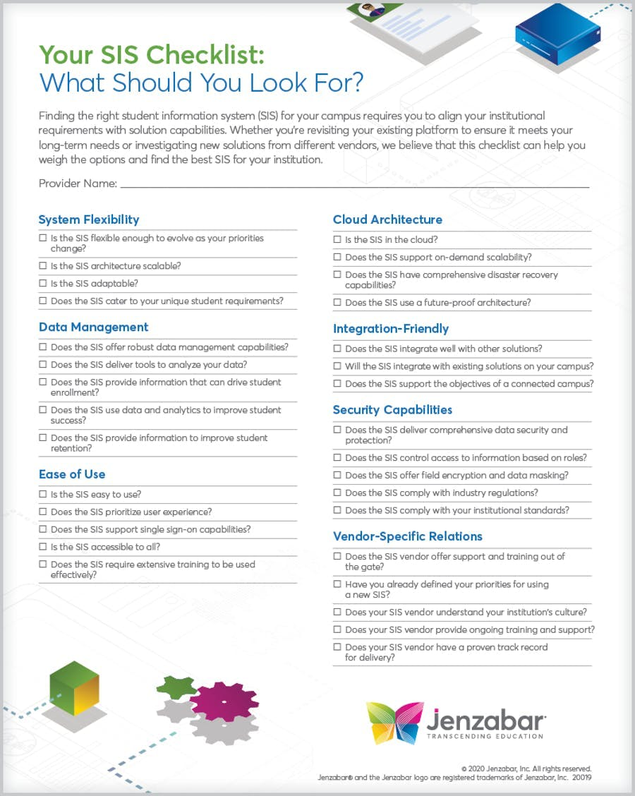 Student Information System Checklist What to Look For