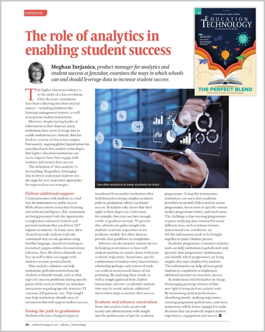 The role of analytics in enabling student success