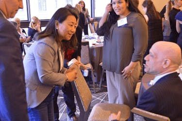 CEO Ling Chai Maginn engages with One Family's Scholars program