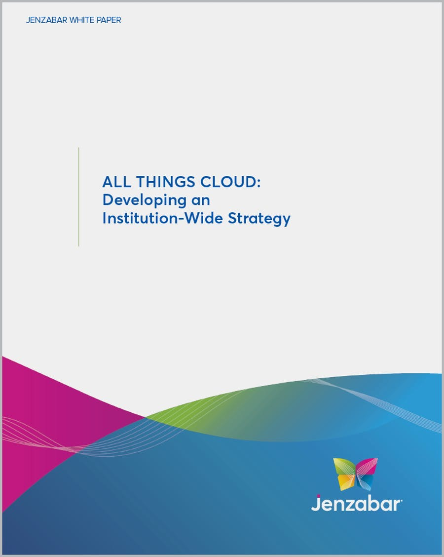 All Things Cloud: Developing an Institution-Wide Strategy