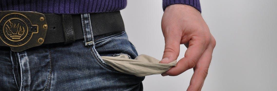 empty pocket, no diploma