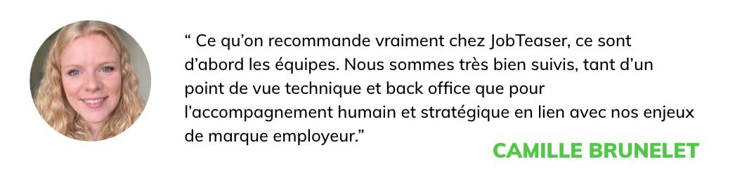 citation Klépierre: ce qu'on recommande chez JobTeaser ce sont d'abord les équipes.