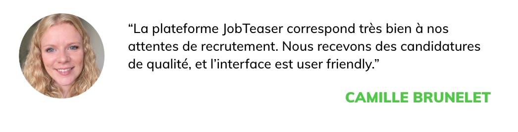 citation klépierre: la plateforme JobTeaser correspond très bien à nos attentes de recrutement. Nous recevons des candidatures de qualité.