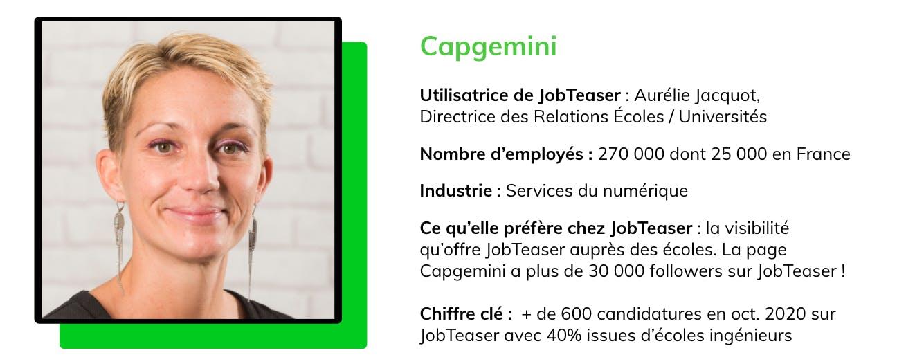 Capgemini compte plus de 30 000 followers sur JobTeaser