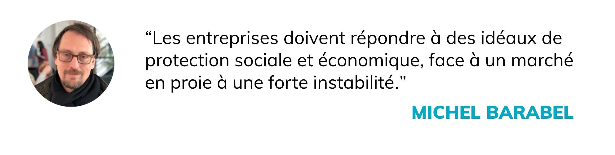 Les entreprises doivent répondre à des enjeux de protection sociale et économique