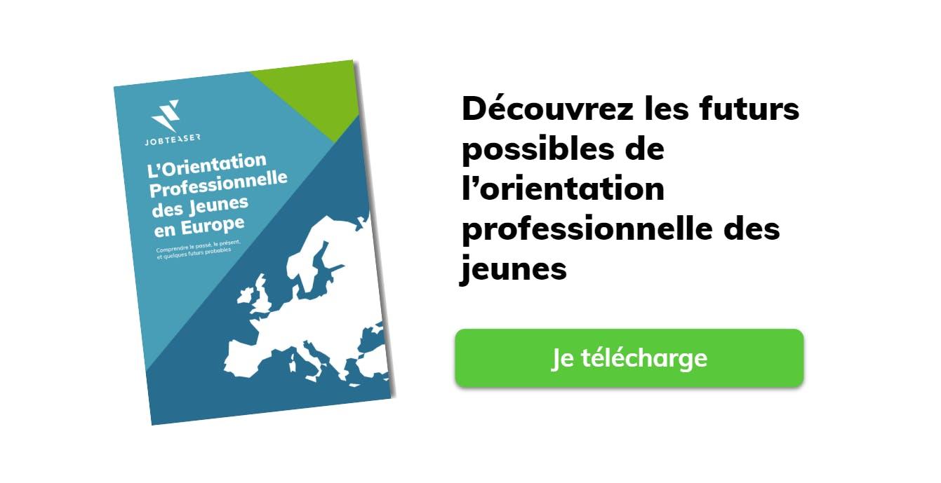 Téléchargez notre rapport sur l'orientation professionnelle des jeunes en Europe