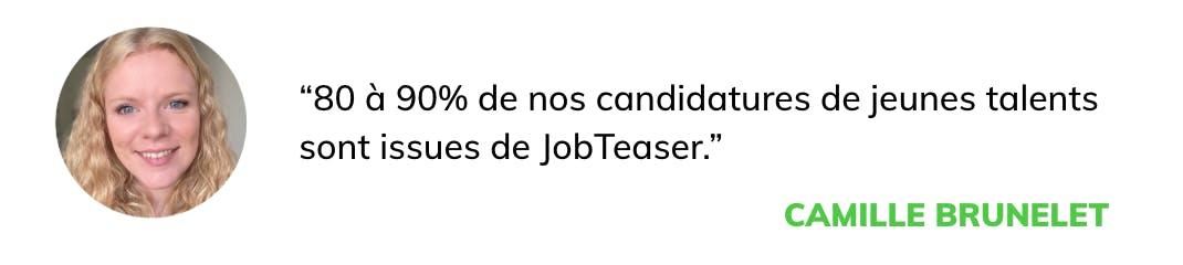 citation klépierre : 80% de nos candidatures de jeunes talents sont issues de JobTeaser