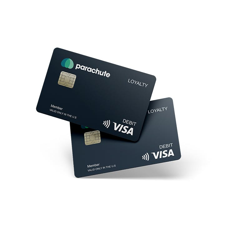 Image with two Parachute payment cards