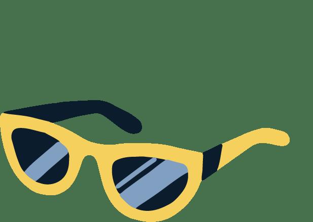 Illustration of sunglasses.