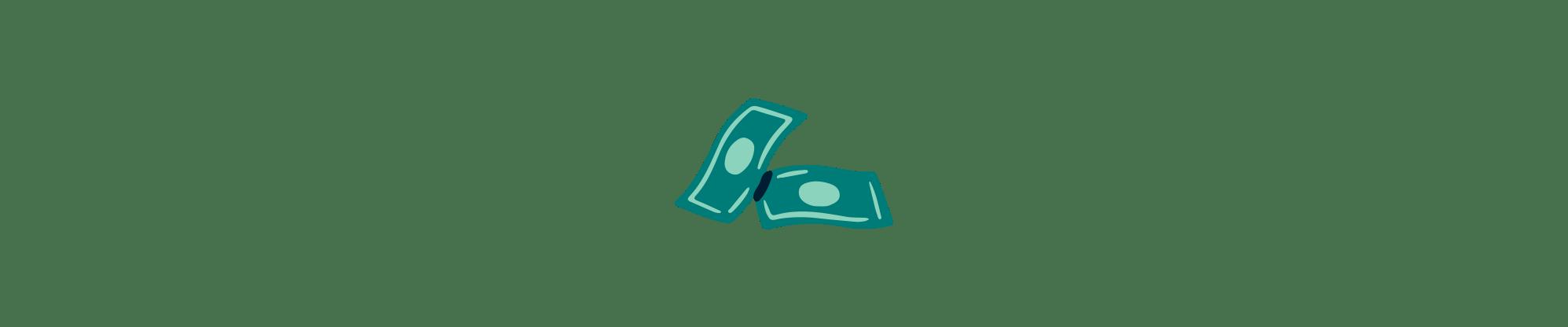 two dollar bills illustration
