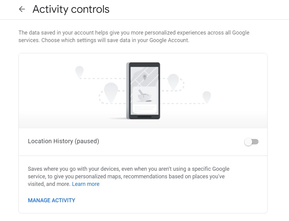 Google Privacy Settings