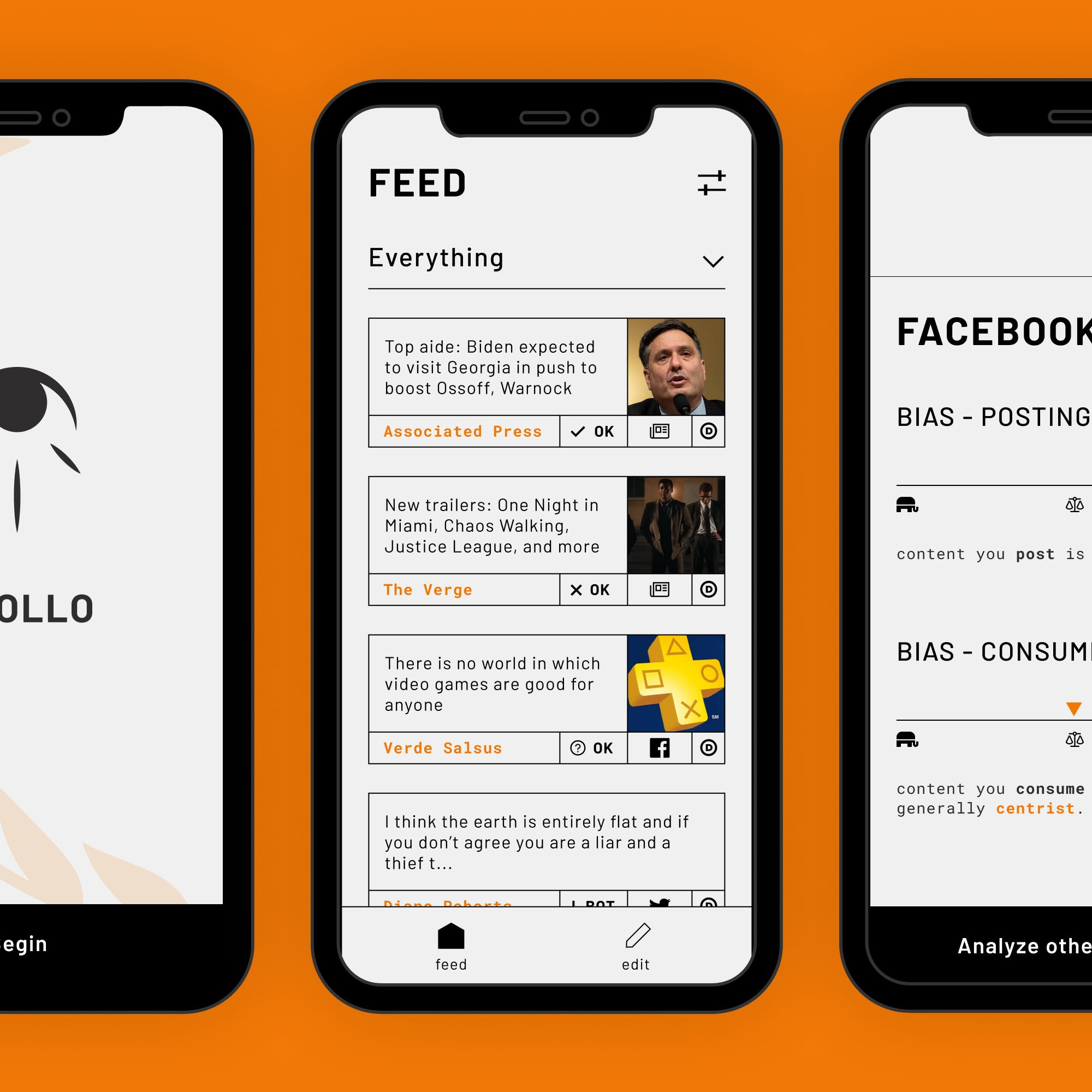 A thumbnail showing screens of apollo on an orange background