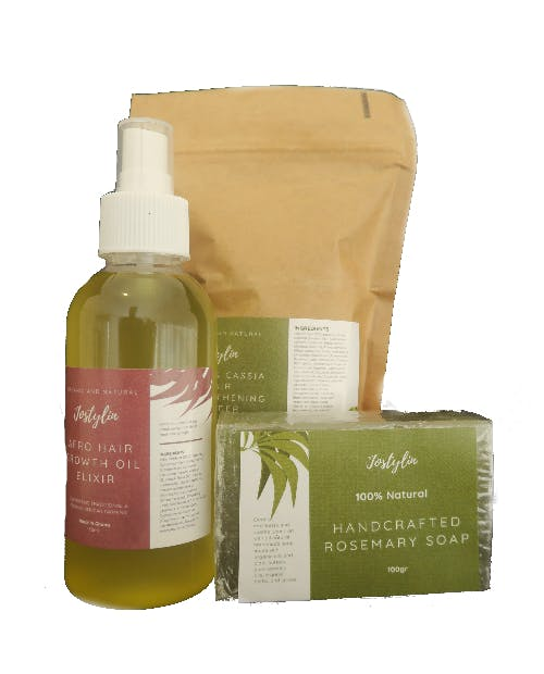 Hair Growth Kit with Chebe powder, oil, and Soap