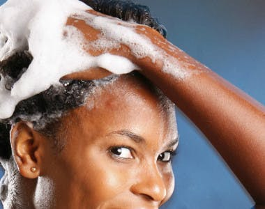 how to wash natural black hair