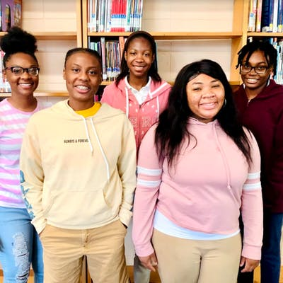 Several Kemper County High Juniors were recognized for ACT® improvements. Back row, L to R: Kaylah Hearn, Illyana McClendon, and Reslyn Ramsey. Front row, L to R: Kaylan Clayton and Anderiah Rush.