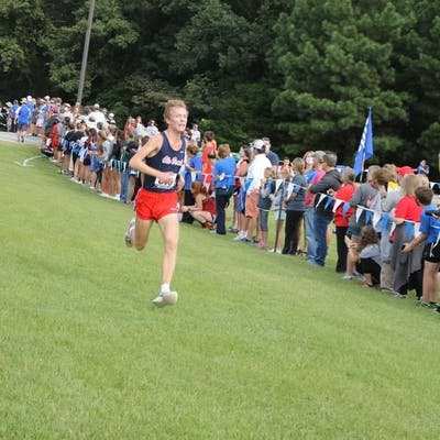 Brookhaven High School Junior Sam Arnold competes in cross-country race.