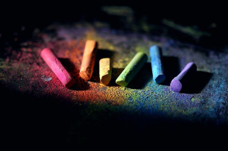 Photo of multicoloured chalks