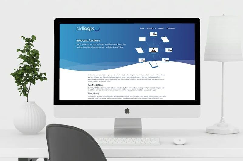bidlogix website displayed on mac