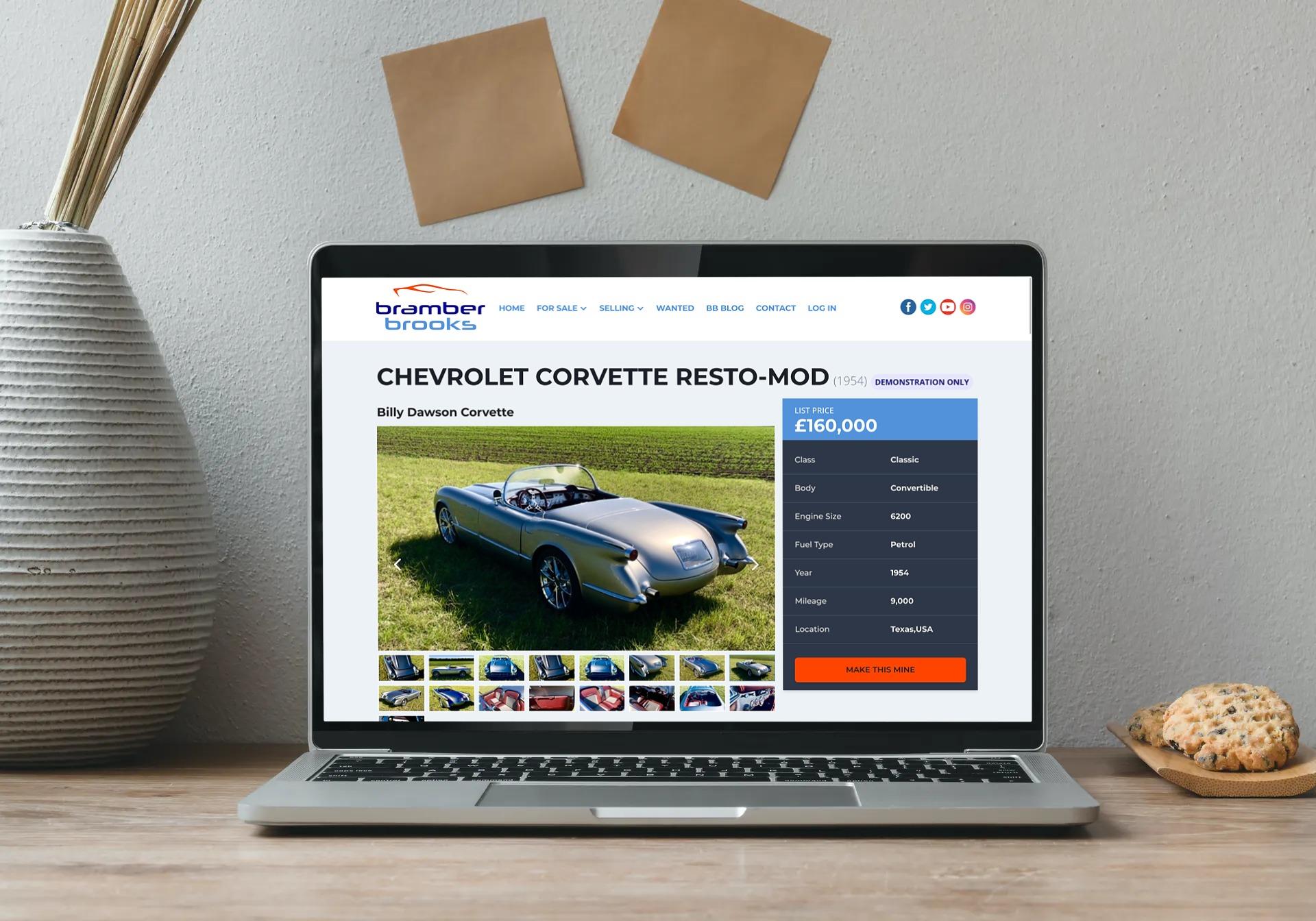 Demo car page on Bramber Brooks website